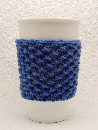 Knit Koozie Pattern : Jasmine Cup Cozy Knitting Pattern PDF Instant Download Handmadeology Market